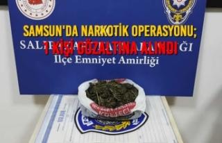 Samsun'da Narkotik Operasyonu; 1 Gözaltı