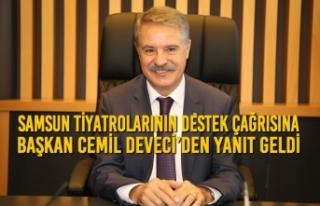 Samsun Tiyatrolarının Destek Çağrısına Başkan...