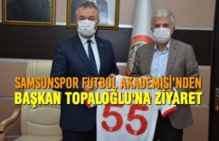 Samsunspor Futbol Akademisi'nden Başkan Topaloğlu'na...