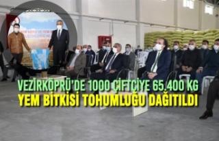 Vezirköprü'de 1000 Çiftçiye 65.400 Kg Yem Bitkisi...