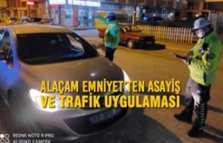 Alaçam Emniyet'ten Asayiş ve Trafik Uygulaması