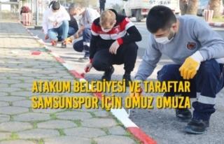 Atakum Belediyesi ve Taraftar Samsunspor İçin Omuz...
