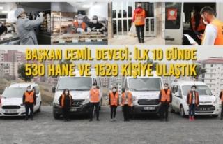 Başkan Cemil Deveci: İlk 10 Günde 530 Hane Ve 1529...