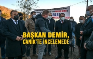 Başkan Demir, Canik'te İncelemede