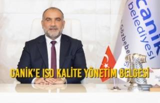 Canik'e ISO Kalite Yönetim Belgesi