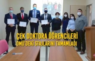 Çek Doktora Öğrencileri OMÜ'deki Stajlarını...