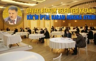 Davayı Atakum Belediyesi Kazandı KİK'in İptal...