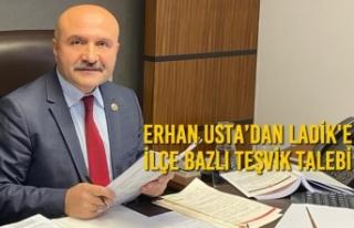 Erhan Usta'dan Ladik'e İlçe Bazlı Teşvik...