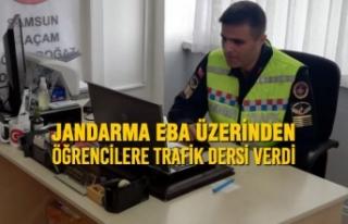 Jandarma EBA Üzerinden Öğrencilere Trafik Dersi...
