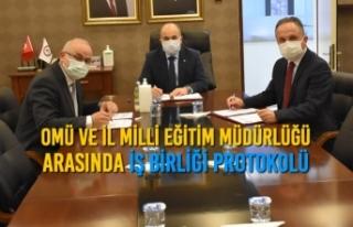 OMÜ ve İl Milli Eğitim Müdürlüğü Arasında...