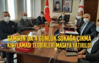 Samsun'da 4 Günlük Sokağa Çıkma Kısıtlaması...