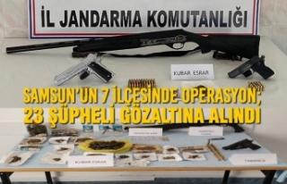 Samsun'un 7 İlçesinde Operasyon; 23 Şüpheli...