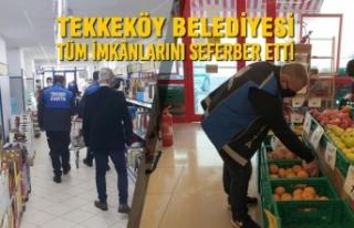 Tekkeköy Belediyesi Tüm İmkânlarını Seferber...