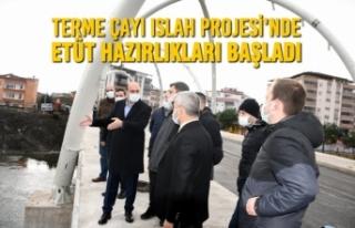 Terme Çayı Islah Projesi'nde Etüt Hazırlıkları...