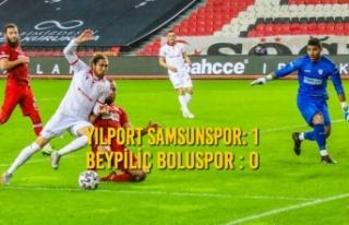 Yılport Samsunspor: 1 – Beypiliç Boluspor : 0