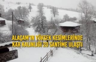 Alaçam'da Yüksek Kesimlerde Kar Kalınlığı...