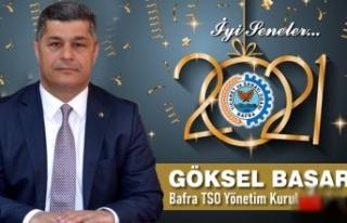 Bafra TSO Başkanı Göksel Başar'dan Yeni Yıl...