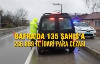 Bafra'da 135 Şahıs'a 236.869 TL İdari Para...