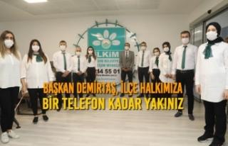 Başkan Demirtaş, İlçe Halkımıza Bir Telefon...