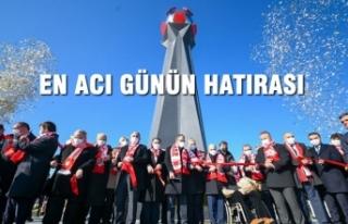 """Büyükşehir Belediyesi'nin """"Samsunspor Anıtı""""..."""