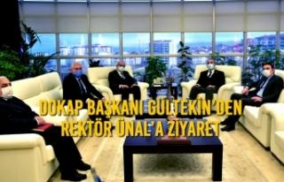 DOKAP Başkanı Gültekin'den Rektör Ünal'a...