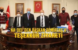 KA-DEF'den Başkan Demirtaş'a Teşekkür Ziyareti