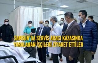 Samsun'da Servis Aracı Kazasında Yaralanan...