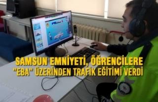 """Samsun Emniyeti, Öğrencilere """"EBA"""" Üzerinden..."""