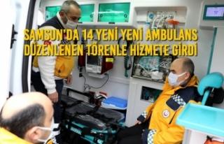 Samsun'da 14 Yeni Yeni Ambulans Düzenlenen Törenle...