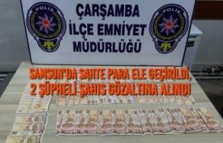 Samsun'da Sahte Para Ele Geçirildi, 2 Şüpheli...