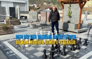 Savaş Gayretli'den Başkan Mustafa Demir'e Teşekkür