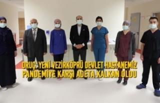 Yeni Vezirköprü Devlet Hastanemiz Pandemiye Karşı...