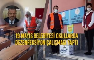 19 Mayıs Belediyesi Okullarda Dezenfeksiyon Çalışması...