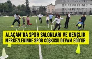 Alaçam'da Spor Salonları ve Gençlik Merkezlerinde...