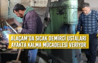 Alaçam'da Sıcak Demirci Ustaları Ayakta Kalma...