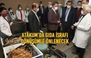 Atakum'da Günde 1.5 Ton Atık Mama ve Gübreye...