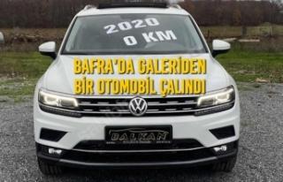 Bafra'da Galeriden Bir Otomobil Çalındı