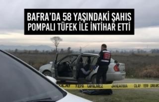 Bafra'da 58 Yaşındaki Şahıs Pompalı Tüfek...