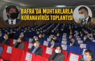Bafra'da Muhtarlarla Koranavirüs Toplantısı
