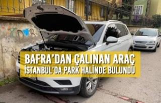 Bafra'dan Çalınan Araç İstanbul'da Park Halinde...