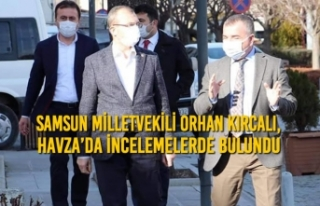 Samsun Milletvekili Orhan Kırcalı, Havza'da İncelemelerde...