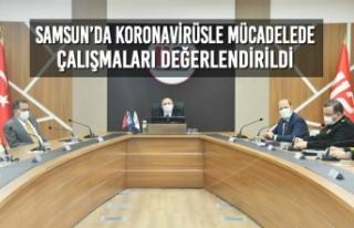 Samsun'da Koronavirüsle Mücadelede Çalışmaları...