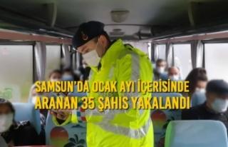 Samsun'da Ocak Ayı İçerisinde Aranan 35 Şahıs...