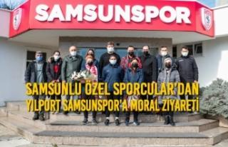 Samsunlu Özel Sporcular'dan Yılport Samsunspor'a...