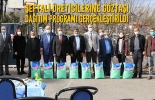 Şeftali Üreticilerine Göztaşı Dağıtım Programı...