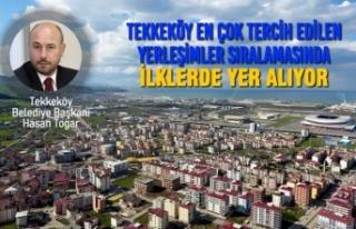 Tekkeköy En Çok Tercih Edilen Yerleşimler Sıralamasında...