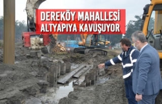 19 Mayıs İlçesi'nde Dereköy Mahallesi Altyapıya...