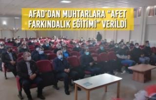 """Alaçam'da AFAD'dan Muhtarlara """"Afet Farkındalık..."""
