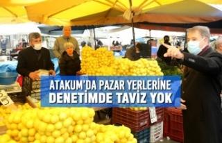 Atakum'da Pazar Yerlerine Denetimde Taviz Yok