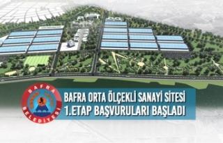 Bafra Orta Ölçekli Sanayi Sitesi 1.Etap Başvuruları...